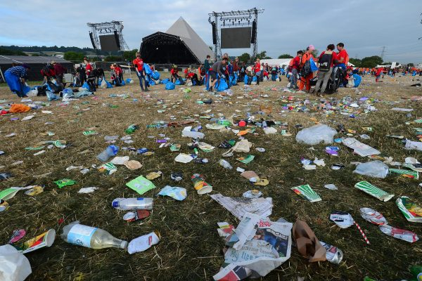 Mandatory Credit: Photo by Mark Large/REX/Shutterstock (9008422ek) Jun 26 2017 - Glastonbury United Kingdom - They Had Been Asked to Care For the Environment and 'Leave No Trace' at the Festival Site But This Was the Scene Yesterday Morning As 200 000 Revellers Began to Leave Glastonbury - A Sea of Waste It Meant That the Festival Organisers Who Pledged to Give A Chunk of the Profits to the Environmental Charity Greenpeace Had to Fork out For A Massive Clear-up Operation (credit Image: Â Glasto's green credentials - What a load of rubbish